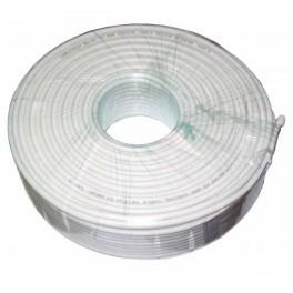 Kvalitný koaxiálny kábel 75 Ohm biely , RG6