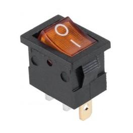 Kolískový prepínač mini,ON-OFF,3-pin,12V,oranžový