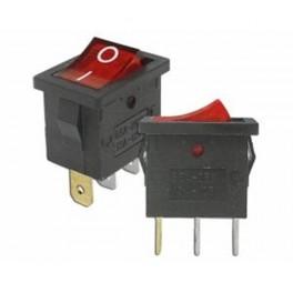 Kolískový prepínač mini,ON-OFF,3-pin,230V,červeny
