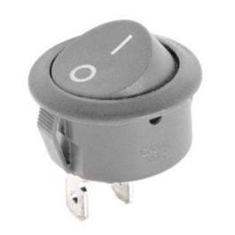 Kolískový prepínač okrúhly R5 0-1 10A/250V AC-sivý