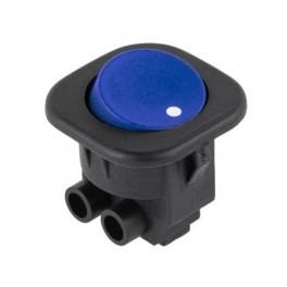 Kolískový prepínač ON-OFF,okrúhly,modrý