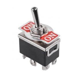 Páčkový prepínač veľký, 6-pin, ON-ON , 6A/250V