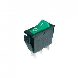 Prepínač kolískový 2pol./3pin ON-OFF 250V/15A pros