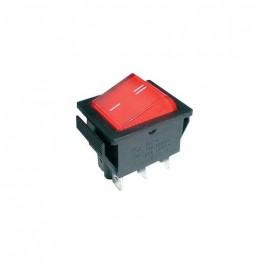 Prepínač kolískový 2pol./6pin ON-ON 250V/15A