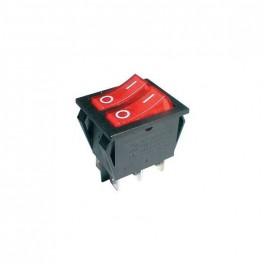 Prepínač kolískový 2x(2pol./3pin) ON-OFF 250V/15A