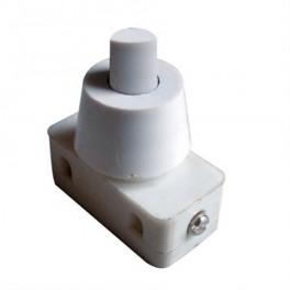 Prepínač tlačítko okr. typ-1 ON-OFF 250V/1A biele