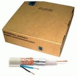 Koaxiálny kábel RG-59 + 2x0,5mm , 1m