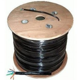 Dátový gelový UTP kábel 8-žilový Cu, CAT.5E , 1m