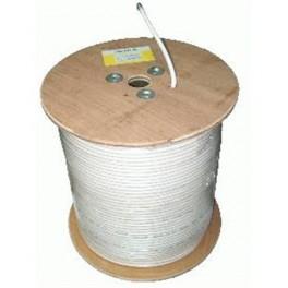 Kvalitný koaxiálny kábel 75 Ohm biely 1m