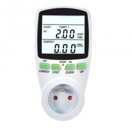 """Digitálny merač spotreby elektrické energie TIPA 3680W/16A, 2,8"""" LCD"""