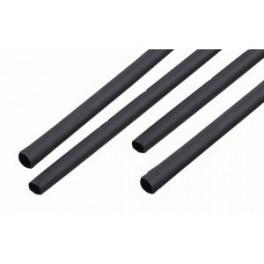 Zmršťovacie bužírky 6,5mm čierne 1m