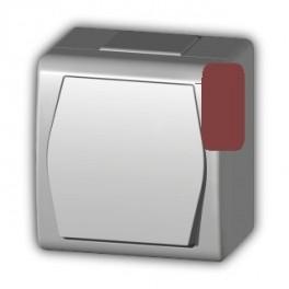 Zásuvka 1x do vhka IP44 hnedá HERMES