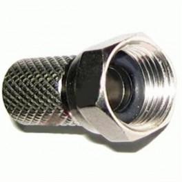 """Kvalitný """"F"""" konektor 6,8mm s gumičkou, HQ"""
