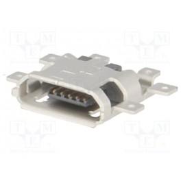 Zásuvka; USB B micro; na PCB; SMT; PIN:5;vodorovny