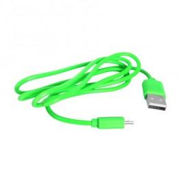 Kábel USB - Micro USB, zelený 1m