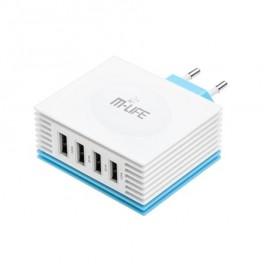 Adaptér USB nabíjací adaptér, 4x USB, 4200mA max.,
