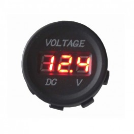 Panelové měřidlo DV34530 voltmetr 6-30V červený