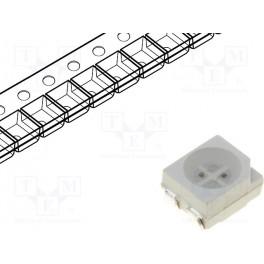 LED; SMD; 3528,PLCC4; červená/žltá; 3,5x2,8mm; 120