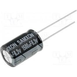 Kondenzátor: elektrolytický; THT; 1500uF; 6,3VDC;