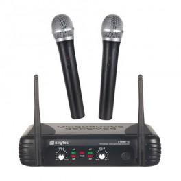 Skytec mikrofonní set VHF, 2 kanálový, 2x ruční mi