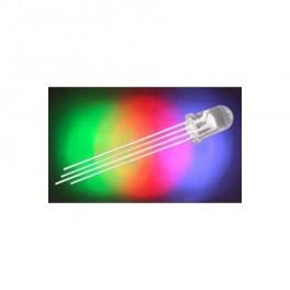 LED 5mm RGB 1500 / 5000mcd / 30 ° číra, 20mA