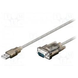 Adaptér USB-RS232; D-Sub 9pin vidlica, USB A vidli