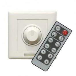 Nástenný stmievač pre jednofarebné LED pásiky 12V