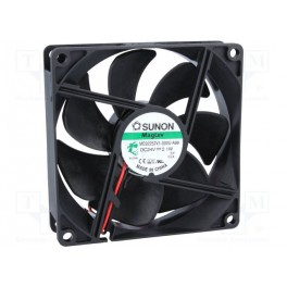 Ventilátor: DC; axiálny; 24VDC; 92x92x25mm; 87,5m3