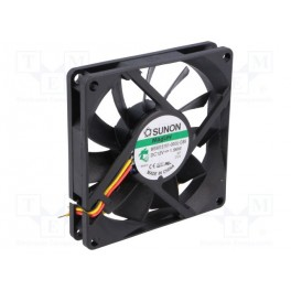 Ventilátor: DC; axiálny; 12VDC; 80x80x15mm; 62,86m