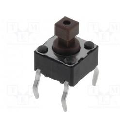 Mikrospínač TACT; 1-polohové; SPST-NO; 0,05A/12VDC