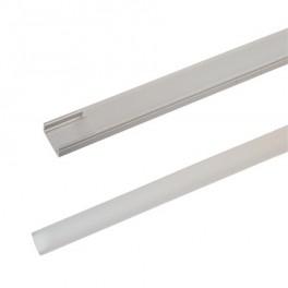 AL profil pre LED, AS1 + plexi k prisadené 17,1x8,