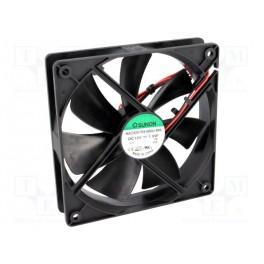 Ventilátor: DC; axiálny; 12VDC; 120x120x25mm; 93,5