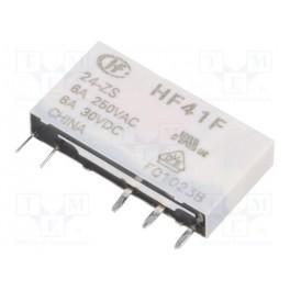 Relé: elektromagnetické; SPDT; Ucievky:24VDC; 6A/2