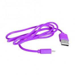 USB kábel - Micro USB, ružová 1m