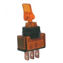 Prepínač prepínača 2pol./3pin ON-OFF 12VDC.žltý