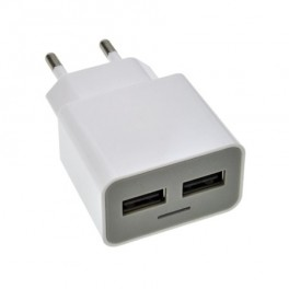 USB nabíjecí adaptér, 2x USB, max. 2400mA, AC 230V