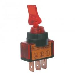 Prepínač prepínača 2pol./3pin ON-OFF 12VDC.červený