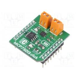 Click board; nabíjačka; SPI; MCP73213; 3,3/5VDC