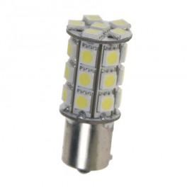 LED žiarovka 12V s BA15s bay biela, 27LED / 3SMD 9