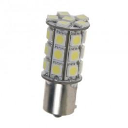 LED žiarovka 12V s BAU15s bay biela, 27LED / 3SMD