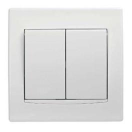 Sieťový vypínač Schneider ANYA č.5 dvojitý biely