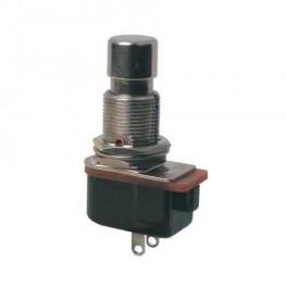 Prepínač tlačidlo kul.ON- (OFF) 12V kov