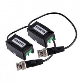 Video balun pasívny transformátor koax / UTP-pár