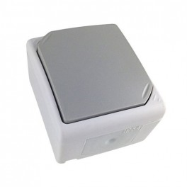 Zásuvka do vlhka IP54, šedý