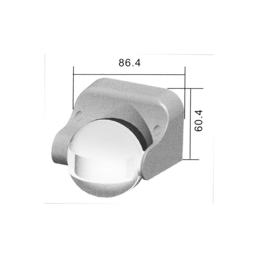 PIR senzor (pohybové čidlo biele) W180 S (LX39) - ALEXTRONIC 5952d4a2f5a