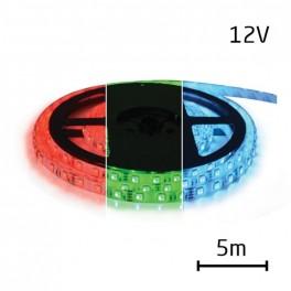 LED pásik 5050 60LED/m IP20 12W/m RGB