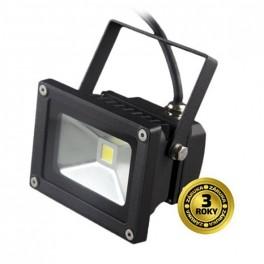 LED vonk. reflektor, 10W, 700lm, AC 230V, čierny