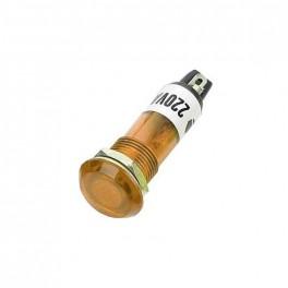 Kontrolka 230V s dutnavkou, žltá do otvoru 10mm