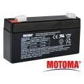 Bateria olovená 6V/ 1,3Ah MOTOMA bezúdržbový akumu