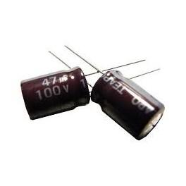 Kondenzátor elektro. 47uF/100V 10x70mm 105*C rad.C